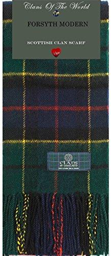 I Luv LTD Forsyth Modern Tartan Clan Scarf 100% Soft Lambswool