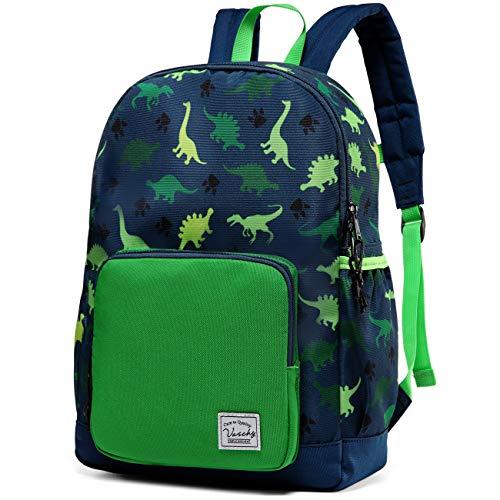 Backpack for Boys, VASCHY Cute Lightweight Water Resistant Preschool Backpack for Boys and Girls Kindergarten Bookbag Dinosaur