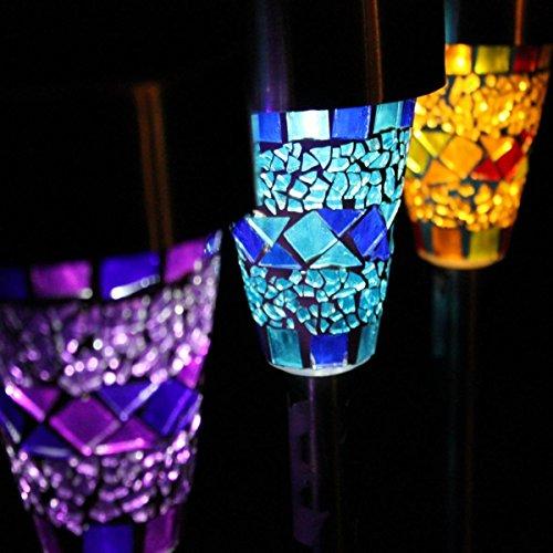Direct Global –Lámpara Solar para jardín con Conector (6Unidades), diseño de Mosaico