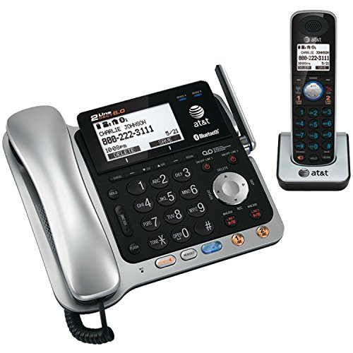 AT&T TL86109 TL86109 Two-Line DECT 6.0 Phone System with Bluetooth
