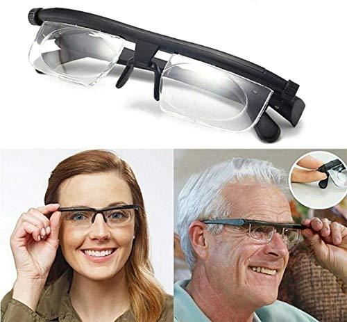 QDWRF Einstellbare Stärke -6D Bis + 3D Linse Lese Myopie Brille Brille Brille Mit Variablem Fokus Vision Brille Einstellbare Stärke , Lesebrille