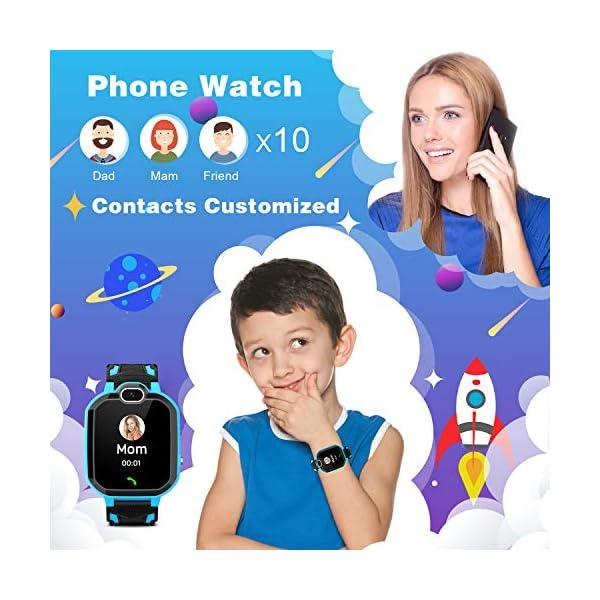 Reloj Inteligente para niños Kids Smartwatch para niños Niñas Juego de teléfono Smart Watch para niños Niños Reproductor… 3