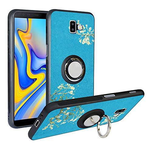 Alapmk Cover per Samsung Galaxy J6 Plus 2018, [Pattern Design] con 360 Magnetica per Auto, Custodia Protettiva TPU Protettiva Custodia Cover per Samsung Galaxy J6 Plus /J6 Prime 2018,Flower
