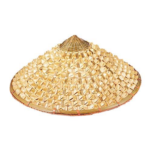 Fltaheroo Vietnamese Japanese Coolie Straw Bamboo Cone Sun Hat Garden Farmer Fishing