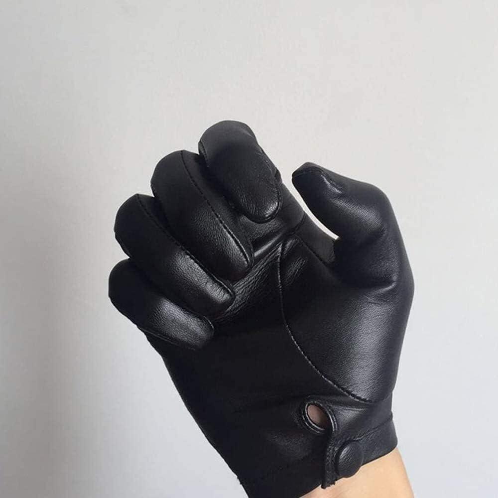 Men's gloves Men's Goatskin Gloves Genuine Touchscreen Leather Glove Outdoor Driving Winter Warm Mittens Windproof Gloves Autumn Winter Genuine-Leather Fashion Plus Men's Mittnes Driving gloves