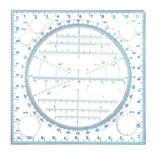 Bomoya Plantilla geométrica,Regla de dibujo multifuncional,Curva redonda horizontal línea paralela vertical,Dibujo multipropósito