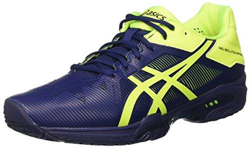 Asics ASICS Herren Gel-Solution Speed 3 Tennisschuhe, Blau (Indigo Blue/Safety Yellow), 44 EU