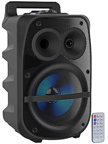 auvisio Partylautsprecher: Mobile PA-Partyanlage, Bluetooth, MP3, USB, SD, Karaoke, UKW, 150 Watt (Partybox)