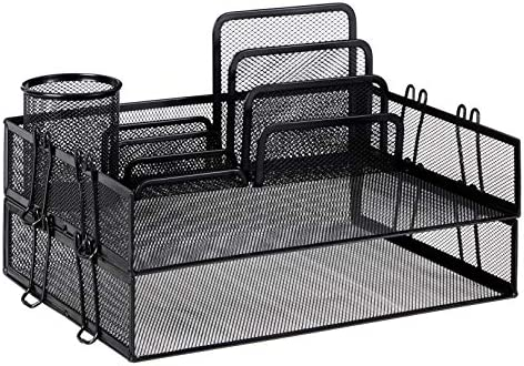 Amazon Basics Mesh Magnetic Storage Desk Organization Bin - 3-Pack