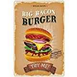 Blechschild im originellen Retro-Design | Big Bacon Burger