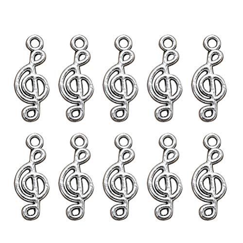 TENDYCOCO 100 Piezas de Nota Musical encantos Colgantes