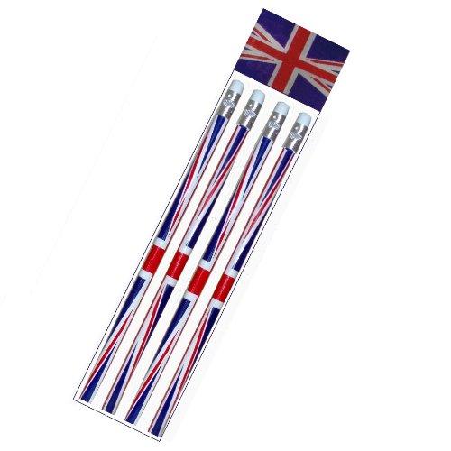 Toyland Satz von 4 Königinnen des Der Union Jacks Jubilee Souvenier Bleistifte [Spielzeug]