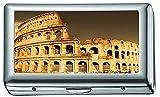 Paesaggio architettonico del portasigarette/scatola per sigarette Colosseo romano, porta carte di credito per uomo donna
