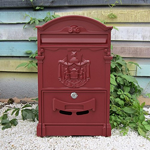MXD Europese stijl eenvoudige mailbox buiten Waterdichte Villa Mailbox met slot Grote brievenbus Landelijke creatieve brievenbus E