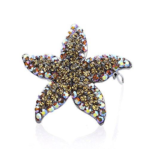 Swarovski Kristallstarfish Haar Barrettes Klip