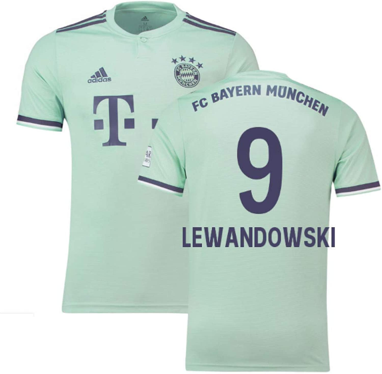 c8f9432f 2018-19 Bayern Munich Away Football Soccer T-Shirt (Robert Lewandowski 9)  nspaxr3112-Sporting goods