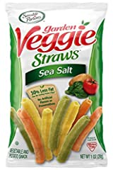 Contains 24, 1 ounce bags shipped in Amazon Certified Frustration-Free Packaging Our delicious Garden Veggie Straws  are a better for you snack the whole family will love 30% less fat than the leading potato chip No trans fats, no artificial flavors ...