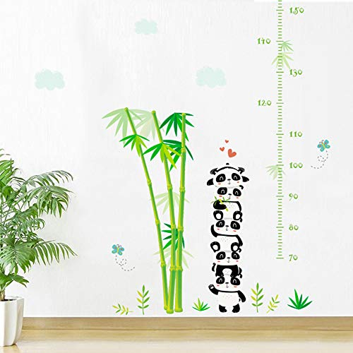 Panda Bambus Wachstum Chart Dekorative Wandaufkleber für Kinder Kinderzimmer Dekorationen PVC Höhe Messen Home Diy Wandbild Kunst Aufkleber