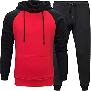 MANLUODANNI Men's Pullover Tracksuit Athletic Sports Casual Sweatsuit