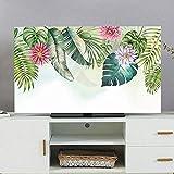 XIAOZHEN Tv Abdeckung LCD-TV-Abdeckung Staubschutz Desktop Computerbildschirmabdeckung Abdecken (Color : Fresh Green Leaves, Size : 40-43inch)