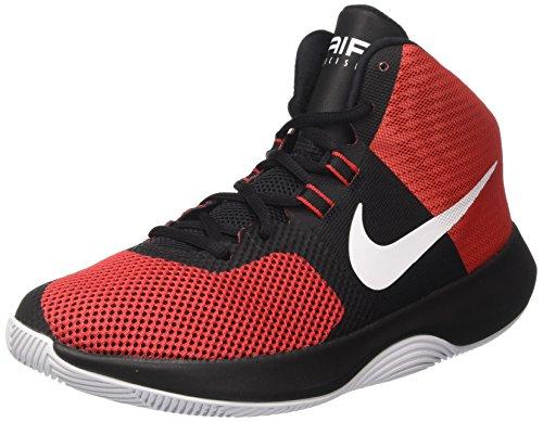 Nike Air Precision, Chaussures de Basketball Homme, Multicolore (University Redwhiteblackdark Grey), 42.5 EU