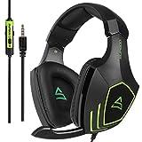 SUPSOO Cascos Gaming, G820 Súper Cómodo Bajo Profundo Professional Auriculares para PC con...