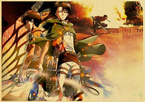 ALLYAOFA Classic Anime Attack Placa de Cartel de Chapa de Metal Gigante Home Bar Art Decoración Placa de Metal Colgante de Pared 7.8x11.8in (20cmx30cm) S