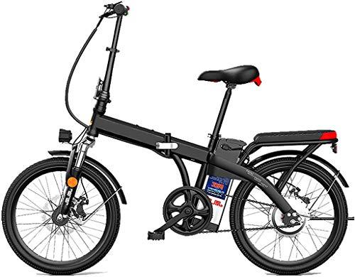 RDJM Bici electrica, 20'Bicicleta eléctrica de la Ciudad Plegable de 20', Bicicleta de Deporte de Bicicleta eléctrica asistida por 250W con batería de Litio extraíble 48V