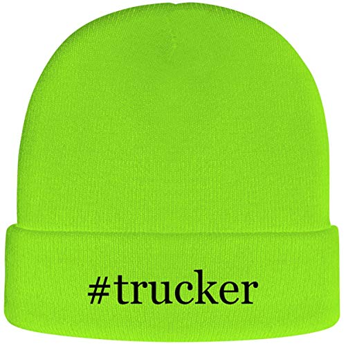 One Legging it Around #Trucker - Hashtag Soft Adult Beanie Cap, Neon Green