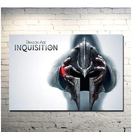 Dragon Age Inquisition Hot Game Art Poster Print Wall Pictures Art Wall Canvas Poster Print Sala de estar Decoración para el hogar -50x70cm Sin marco