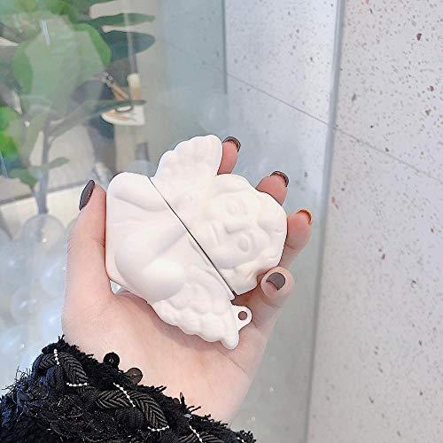 Schutzhülle für AirPods Für Airpods 1 2 3D Süßer Engel künstlerischer Silikon-Kopfhörer-Gehäuse Wireless Bluetooth-Kopfhörer-Headset-Abdeckung für Airpods Pro-for Airpod Pro Schutzhülle für Airpods