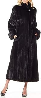 frr BLACKGLAMA Mink Fur Full Length Coat with Fold-Up Cuffs