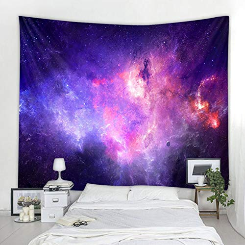 KHKJ Universe Space Nebula Big Art Tapisserie Gedruckte Wandverkleidung Psychedelic Wandbehang Strandtuch Mandala Dünne Decke A19 200x180cm