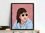 BP Studio Julian Casablancas The Strokes Poster Print Image Graphic Digital Illustration Artwork Wall Art (20x24)