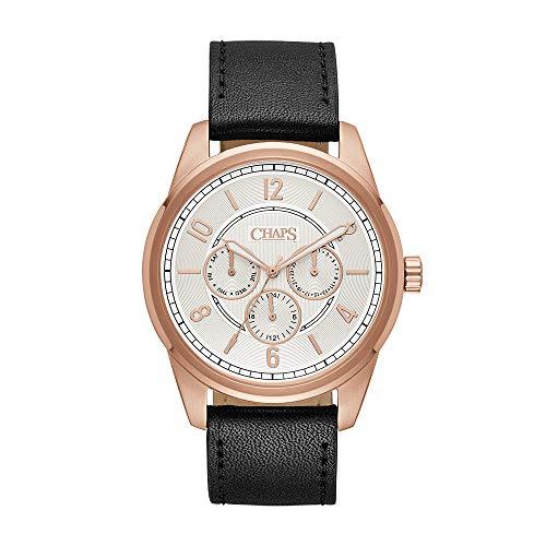 Reloj Chaps Bransen para Hombres 44mm, pulsera de Piel de Becerro