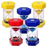 Schramm 5er Pack XXL Sanduhren in rot, blau oder gelb 5 Stück Sanduhr Sandclock Eieruhr Sand Uhr Zeituhr Kurzzeituhr Sanduhr