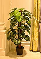 YATAI Nearly Natural Green Apple Artificial Plant 1.3 Meters High One Rod Artificial Tree –Fake Plants – Fake Tree –...