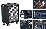 BGS 4060   Werkstattwagen   mit 243 Werkzeugen   7 Schubladen   gefüllt   abschließbar   massives Metall