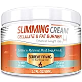 Hot Cream, Anti Cellulite Slimming & Firming Cream, Fat Burner Sweat Cream for Shaping Waist, Abdomen, Buttocks, Arms and Thighs