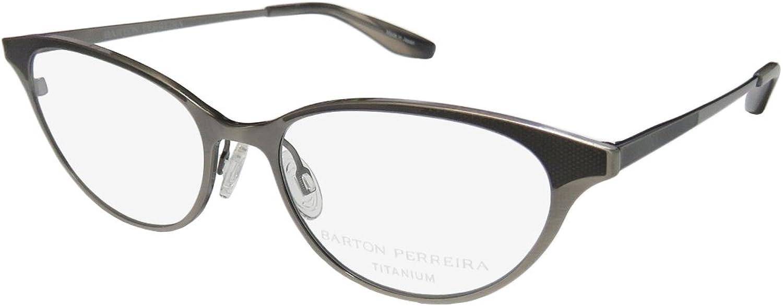 Barton Perreira Songbird Womens Ladies Cat Eye Fullrim Titanium Eyeglasses Eyewear (4916145, Pewter)