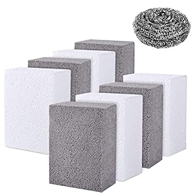 Grill Cleaning Brick Block, Grill Brick for Flat Top Grills and Griddles, Grill Stones Cleaner, Cleaning Brick Block-Non-Toxic&Remove Greases,Stains,Residues,Dirt (Grill Cleaning Brick-8 Pack)