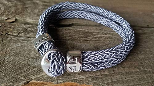 Seute Deern - Armband aus Hamburg - grauPersonalisiert - Individuelle Länge