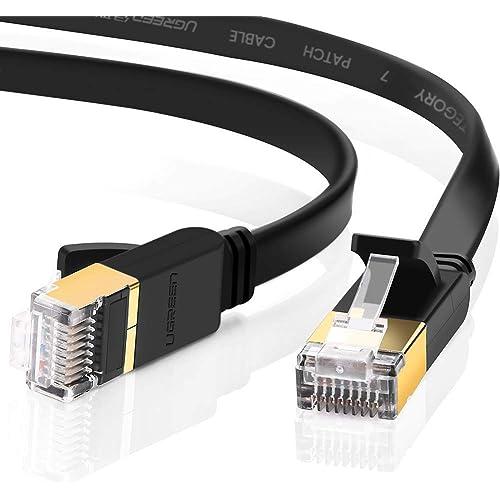 UGREEN CAT-7 Black Flat Cable