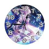 掛け時計 Fate/Stay Night Heaven'S Feel 電波時計 おしゃれ アニメ 連続秒針 静音 壁掛け時計 掛時計 インテリア 大数字 見やすい 25cm