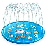 Splash Pad, Sprinkler Play Matte 68in/170cm, Wasserspielmatte Garten - Perfektes Sommer Garten Wasserspielzeug Kinder für Outdoor Familie Aktivitäten/Garten (Nicht Aufblasbar)