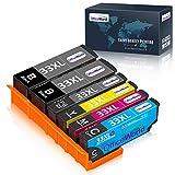 OfficeWorld 33 XL Cartuchos de Tinta para Epson 33XL Compatible con Epson Expression Premium XP-530 XP-630 XP-635 XP-640 XP-645 XP-540 XP-830 XP-900 XP-7100, 6-Pack