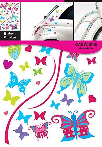 Colorfull-Adesivi per auto, moto, a forma di farfalla
