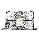 Ln-ZME Frauen Umhängetasche Retro Serpentine Messenger Bag Umhängetasche Mode Diagonale Paket...