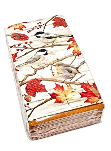 Craftmaster Birds on a Branch Paper Guest Towels Buffet Napkins (0238), 36 ct