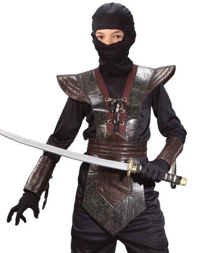Ninja Fighter Costume - Child Costume - Black Large (12-14)